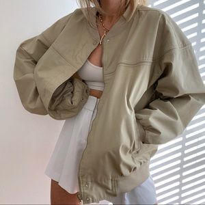 Vintage chino oversized bomber jacket